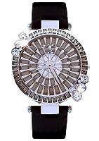 [ガルティスコピオ] Galtiscopio 腕時計 MGSS215BLS 花6 マーガレット 黒 スワロフスキー クリスタル キラキラ レディース 日本正規総代理店 [正規輸入品] [時計]