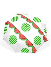 AOMOKI 折り畳み傘 折りたたみ傘 日傘 手開き 三つ折り 晴雨兼用 梅雨対策 UVカット 耐強風 8本骨 男女兼用 スイカ 幾何学模様