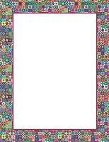 Geographicsアートモザイクレターヘッド、8.5X 11インチ、デザイン、100枚のパック(48447)