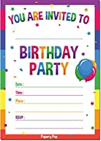 Birthday Party Invitations With Envelopes (15 Count) - Anniversary Celebration Cards [並行輸入品]