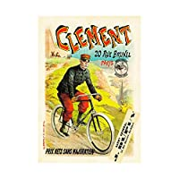 Advert Transport Clement Cycles Vintage Retro France Wall Art Print 広告輸送ビンテージレトロフランス壁