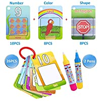AbbbT水Colouring Doodle board- 26 Letters 2マジック水ペン図面おもちゃfor Child Flash Cards B