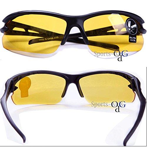 【OPG】 高品質 セーフティ グラス 安全メガネ PC素材 曇り止め 耐衝撃 特殊レンズ Stylish Safety Glasses Clear Supercoat Anti-Fog Case 【 イエロー 】 Yellow