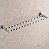 DACHUI Modern Bathroomタオルホルダー壁マウントカラーThe Moneyダブルロッド単層