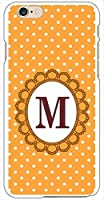 sslink iPhone6s Plus 5.5インチ ハードケース ca1102-m ドットオレンジ イニシャル-M スマホ ケース スマートフォン カバー カスタム ジャケット softbank au docomo