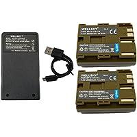 [WELLSKY] Canon キヤノン 互換バッテリー BP-511 / BP-512 / BP-511A / BP-514 2点 & 超軽量 USB 急速互換充電器 CG-580 / CB-5L 1点 [ 3点セット ] [ 純正品と同じよう使用可能 ・ 残量表示可能 ] イオス EOS 5D / EOS 50D / EOS 10D / EOS 20D / EOS 20Da / EOS D30 / EOS 30D / EOS 40D / EOS-D60