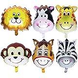 NUOLUX 子供誕生日 風船 動物 バースデーバルーン セット 子供会 子供部屋 飾り付け 6個セット