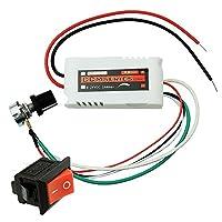 uniquegoods CCMFC 12V 2A DC モータースピードコントローラー 調節可能な変速スイッチ PWM DC 電圧スイッチ レギュレータ DCファンのスピードをコントロール