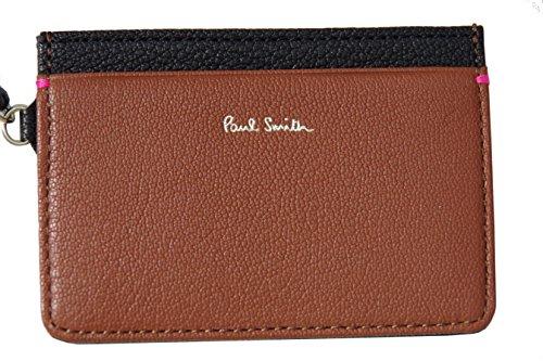 [ポール・スミス] PaulSmith パスケース 定期入れ カードケース ヤギ革 ブラック×ブラウン D04010 新品正規品