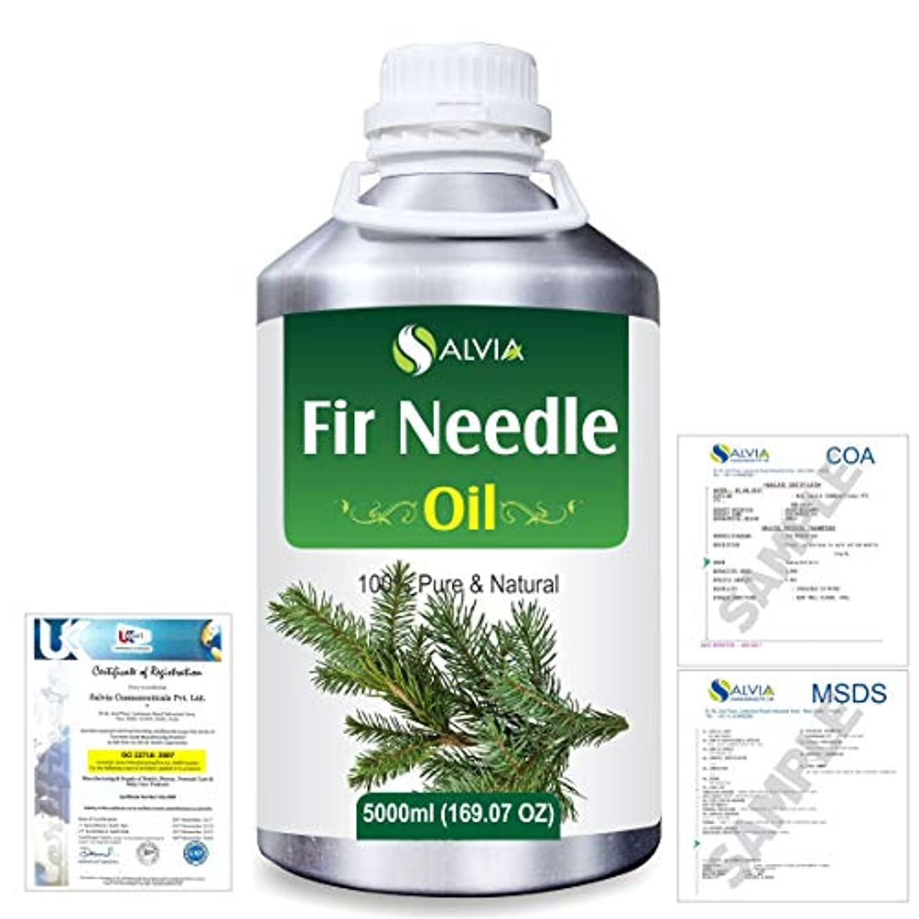 何十人も下リースFir Needle (Abies balsamea) 100% Natural Pure Essential Oil 5000ml/169fl.oz.
