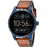 化石Q Marshalタッチスクリーンレザーストラップスマート腕時計 One Size