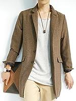 (モノマート) MONO-MART 7color チェスターコート ウール ヘリンボーン スプリングコート ステンカラーコート メンズ