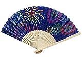 レディース 季節 の 扇子 竹製 オトナ 大人 おしゃれ カラフル 21cm 丈夫 コンパクト 女性 用 プレゼント に