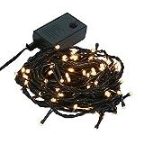 【シャンパンホワイト】イルミネーション LED ライト クリスマスライト 100球 点灯パターン記憶メモリー付 連結可