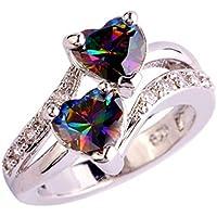 BEE&BLUE S925銀メッキ銅 指輪 リング ハート 高品質リング キラキラ レディース かわいい 指輪 贈り物