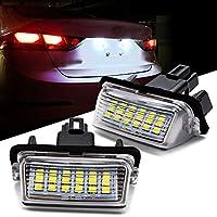 Safego トヨタ LED ライセンスランプ LED ホワイト ナンバー灯 純正交換型 ハイブリッド対応 トヨタ 80系 ノア/ヴォクシー/エスクァイア / NHP10 アクア / AVV50 カムリ / AZK10 SAI サイ 後期 12V 3W 片側18発 2個セット 1年保証