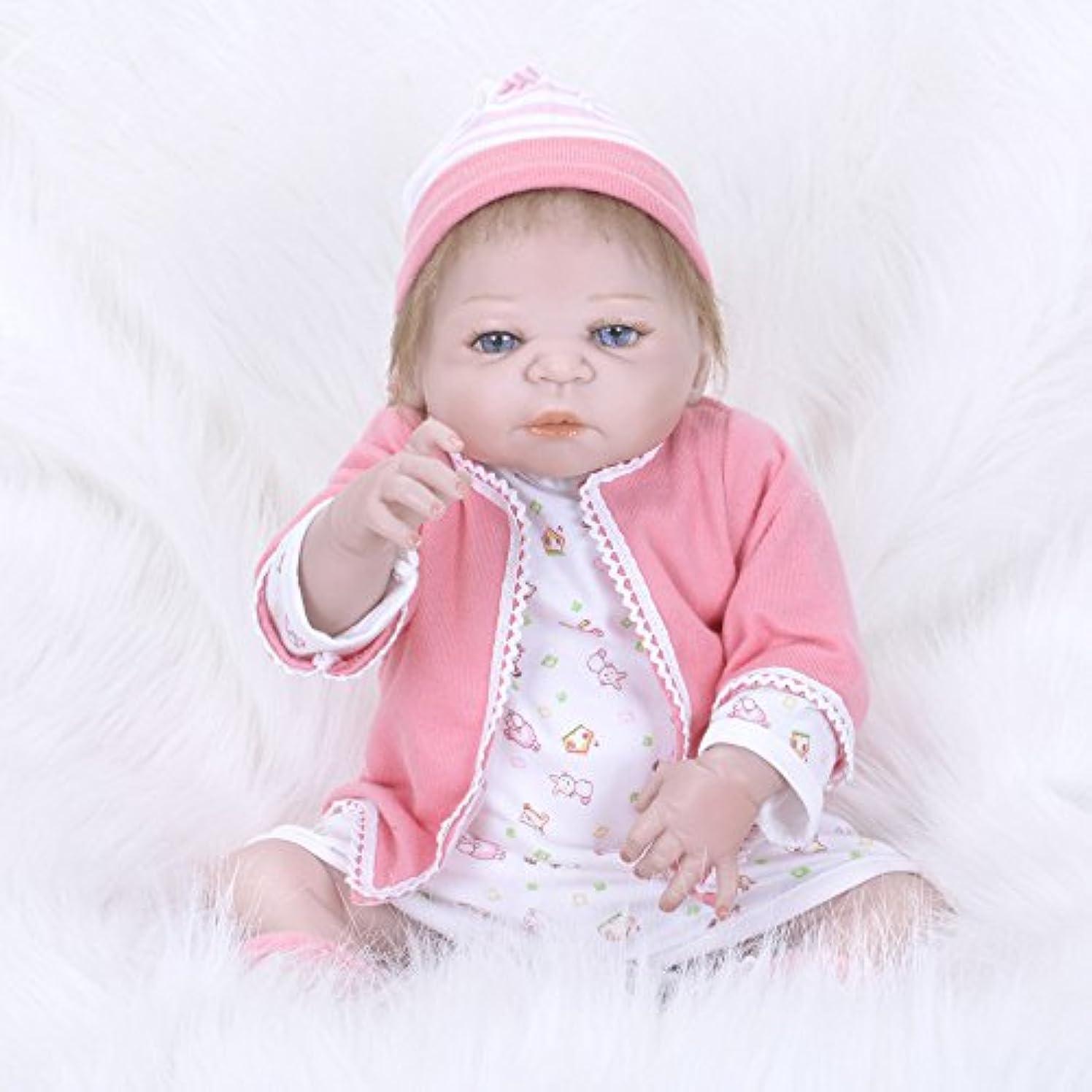 賛美歌関連付ける放射能PKJOkmjko シミュレーション人形全シリカゲル幼児教育迫真の女の子の人形23インチ58センチメートル迫真プリンセス児童玩具子どもの誕生日プレゼント