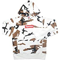 SUPREME シュプリーム 16AW Box Logo Hooded Sweatshirt BOXロゴパーカー 白茶 S 並行輸入品