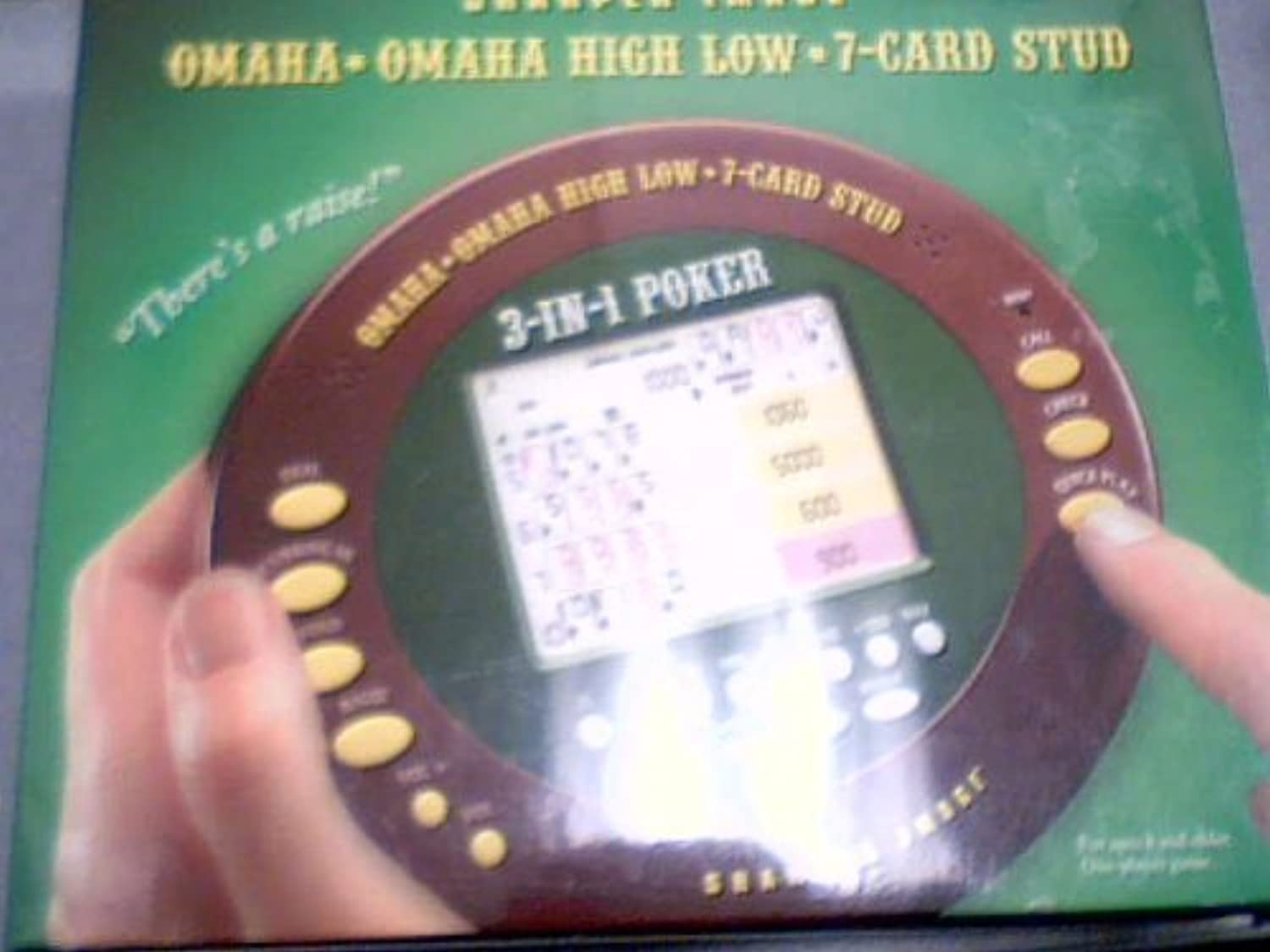 2005 Sharper Image Corporation Sharper Image Omaha * Omaha High Low * 7-Card Stud LCD Hand-Held Model# MS051 (Plastic Blister Package) by Sharper Image [並行輸入品]