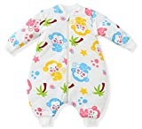 Fairy Baby Detachable Sleeves approx 3.5TogコットンSleeping Bag withフィート S(fit baby less 31.5in,6-12 months) US-S098-04