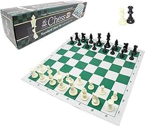 チェスジャパン スタンダードチェスセット ワールド 51cm (グリーン, ヘビー)