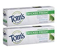 Tom's of Maine Wicked Fresh Long Lasting Fresh Breath Fluoride Toothpaste, Spearmint Ice, 4.7-Ounce by Tom's of Maine