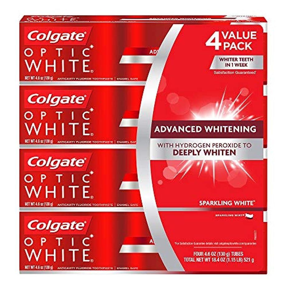 おばあさん瞬時にメタリック海外直送品 コルゲートオプティックホワイトスパークリングホワイト 歯磨き粉 Colgate Optic White Sparkling White Toothpaste, Sparkling Mint (4.6 oz,...
