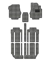 Hotfield 日産 セレナ C27系 (ガソリン車) フロアマット 千鳥格子柄 千鳥アイボリー 【D:フロント分割:パーツ一体/ロングスライド(標準仕様)】