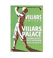 """Villars Palace Hotelゴルフヴィンテージポスターキッチンバーガラスカッティングボード 11""""x8"""" CUTBLAR126_R118"""