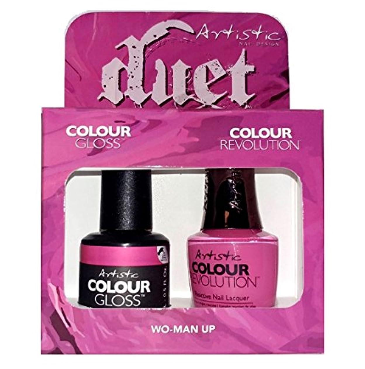 ストッキング専ら切り刻むArtistic Nail Design - Duet Gel & Polish Duo - Wo-Man Up - 15 mL / 0.5 oz each