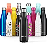 Proworks Stainless Steel Water Bottle, BPA Free & Vacuum Insulated for 12 Hours Hot & 24 Hours Cold Drinks, Metal Sports Flask Great for Work, Gym, Travel - 350ml / 500ml / 750ml / 1 Litre