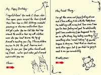 Quiplip Handwritten Yours Truly Birthday Cards 6-Pack (YT08156PCK) [並行輸入品]