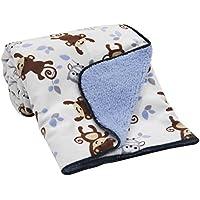 Bedtime Originals Sherpa/Velour Blanket, Mod Monkey by Bedtime Originals