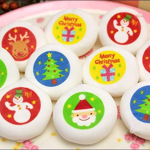 お家の箱入り クリスマス マシュマロ 10個 チョコレート 入り 個包装 お菓子 10箱 セット