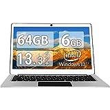 Jumper EZbook 3 Pro【Win10搭載】13.3インチ ノートパソコン 1920*1080 ラップトップ N3450 6GB DDR3 64GB eMMC FHD IPS液晶 金属シェルラップトップPC