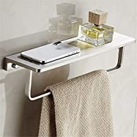 浴室の棚 キッチンバスルームウォールマウントシャワーバスケット真鍮の浴室の棚シャワーラックバスルームラックストレージラック シャワーラック (Color : Gray, Size : 37.2x10x8.5cm)