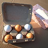 Greensun TM 6個卵木製キッチンおもちゃPretend Play Food Egg赤ちゃんおもちゃセット食品卵Preschool木製Toys for Girl