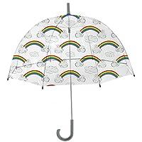 Rainbrella Kids Sky Collection Rainbows Umbrella, Clear