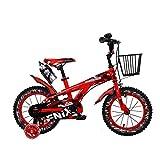 6A5D 子供の自転車、3色のボーイのスポーツバイク、簡単にはウォーターボトルやバスケットで12月14日/ 16/18インチの自転車をインストールします ( Color : 02 , Size : 16INCH )