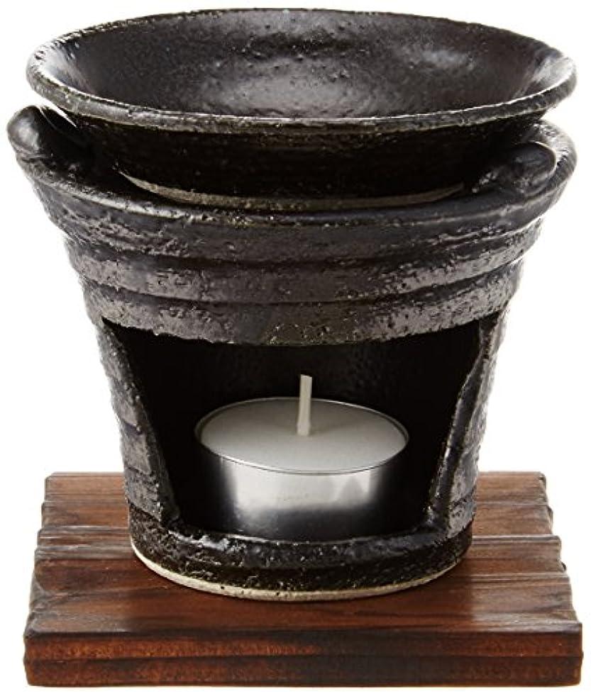分泌する五十アレイ香炉 茶香炉 黒いぶし [H10cm] プレゼント ギフト 和食器 かわいい インテリア