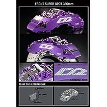 D2 レーシングスポーツ AUDI S4 (UFO) φ-φ (95-100) (HUB M12) 91~94 5X112ストリートキャリパー (ダストカバー付) SUPER 8 POT 380X32 フローティング 推奨ホイール径 : 19インチ AU15-3