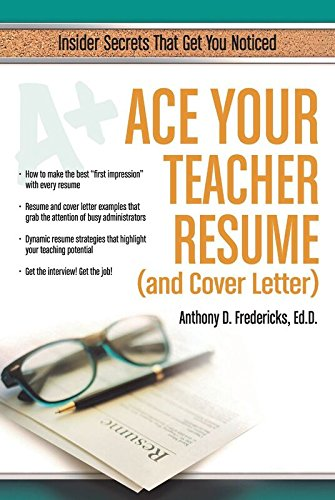 amazon ace your teacher resume and cover letter english edition