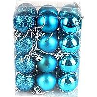 Fortem クリスマスツリーオーナメントボール クリスマス オーナメント クリスマスツリー飾り クリスマス用品 24個入り デコレーション ゴージャス 雑貨