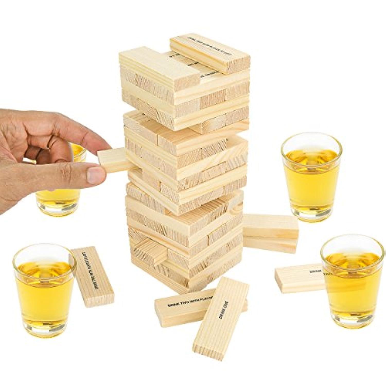 Fairly Odd Novelties Dunken Blocks Shot Glass, Brown by Fairly Odd Novelties [並行輸入品]