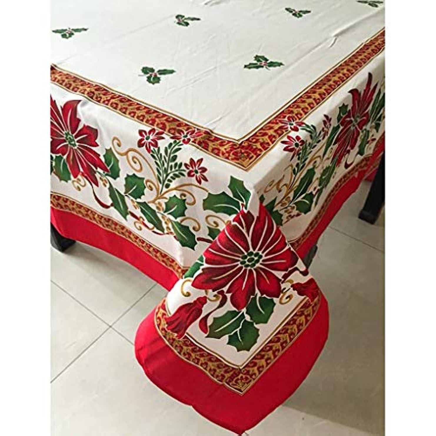 自分ニッケルただやるクリスマスオーバルテーブルクロス長方形テーブルクロス大西部テーブルクロスのためにクリスマスパーティーファミリーディナー、レッド (Size : Rectangle 152x259cm/60x102