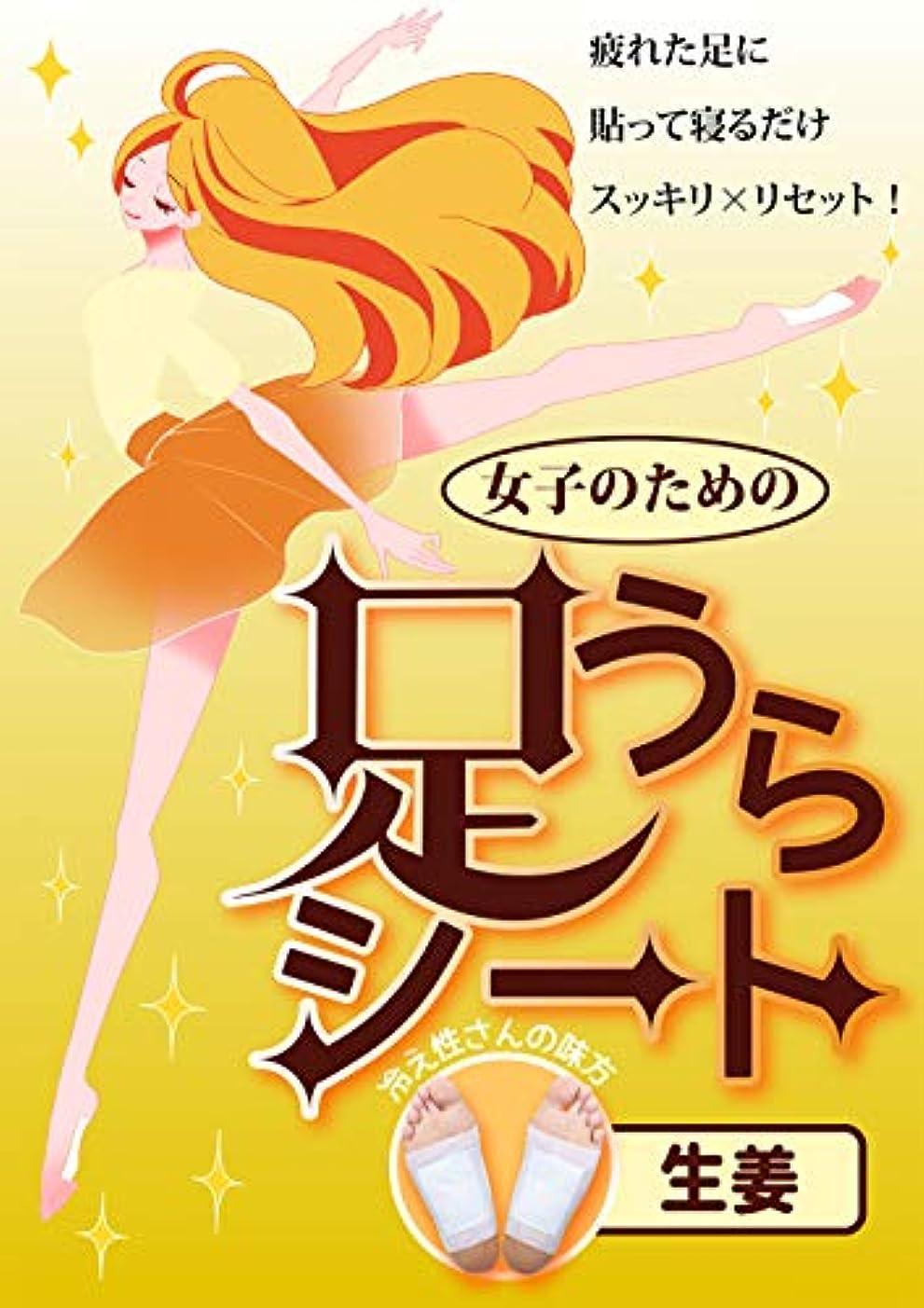 日本製 足うらシート M&Sジャパン 樹液シート 足裏シート フット ケア 足ツボ 健康 (しょうが)