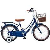 RENAULT(ルノー) KID'S16-Classic ブルー 16インチ 幼児/子供用自転車 またぎやすい低床フレーム設計 【ハンドルパッド/前後泥除け/フルカバーチェーンケース/リアキャリア/取り外し可能補助輪/フロントクラシックバスケット標準装備】 11338-0399