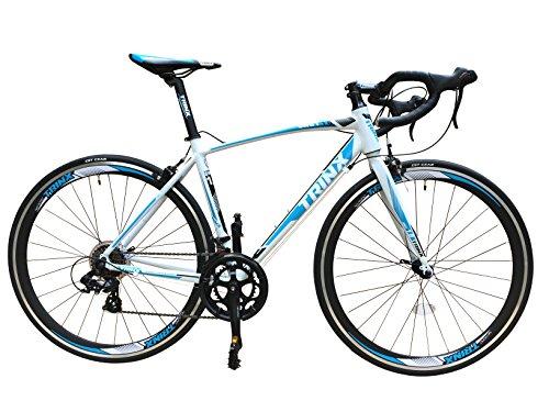 TRINX(トリンクス) 【ロードバイク】超軽量アルミフレーム 700c デュアルコントロール SHIMANO 14SPEED ディープCNCアルミホイール採用の最新モデル ロードレーサー SWIFT1.0 ホワイト/ブルー
