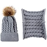 2pcs/Set Baby Kids Winter Knitted Beanie Hat Crochet Beanie Cap Boys Girls Autumn Warm Cap Scarf Set