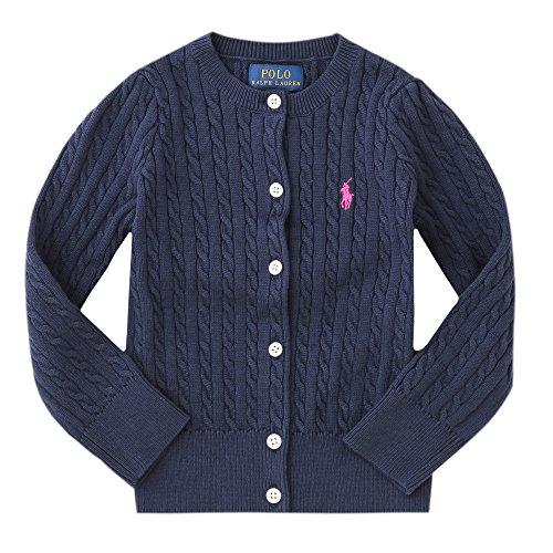 ラルフローレン キッズ ケーブルニット 長袖 カーディガン Cable-knit Cotton ca...